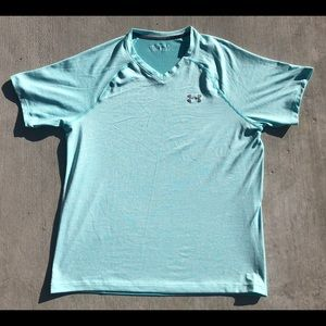 Under Armour Teal Blue Workout Athletic Shirt